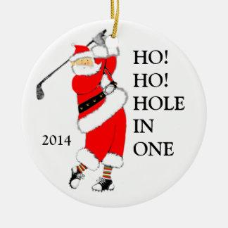"golf ""Hole In One"" Ceramic Ornament"