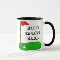 Golf Hole in One Club Custom Personalized Mug
