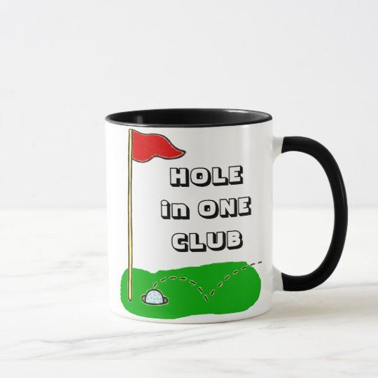 Golf Hole in One Club Custom Personalized Mug