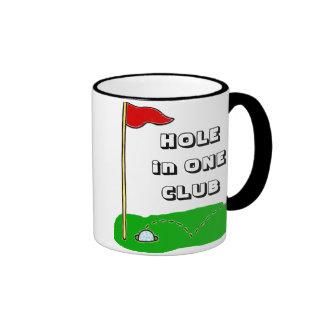 Golf Hole in One Club Custom Personalized Ringer Coffee Mug