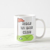 Golf Hole in One Club Sports Custom Personalized Coffee Mug