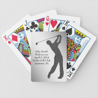 Golf Hole-in-one Commemoration Customizable Bicycle Playing Cards