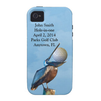 Golf Hole-in-one Commemoration Customizable Case-Mate iPhone 4 Covers