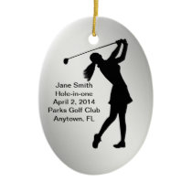 Golf Hole-in-one Commemoration Customizable Ceramic Ornament