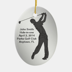 Hole In One Ornaments Keepsake Ornaments Zazzle