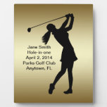 Golf Hole-in-one Commemoration Customizable Display Plaque