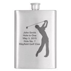 Golf Hole-in-one Commemoration Customizable Hip Flask at Zazzle