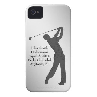 Golf Hole-in-one Commemoration Customizable iPhone 4 Case