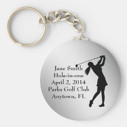 Golf Hole-in-one Commemoration, Customizable Keychain