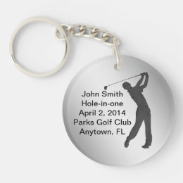 Golf Hole-in-one Commemoration Customizable Keychain