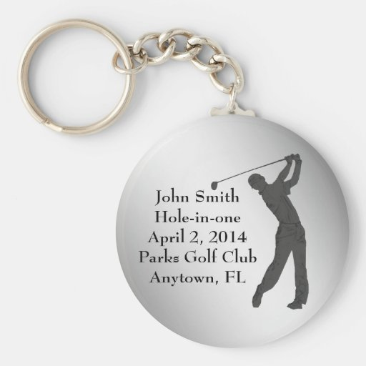 Golf Hole-in-one Commemoration Customizable Keychains