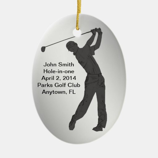 Golf Hole-in-one Commemoration Customizable Christmas Ornaments