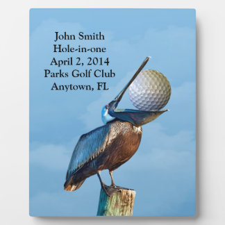 Golf Hole-in-one Commemoration Customizable Plaque