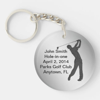 Golf Hole-in-one Commemoration Customizable Single-Sided Round Acrylic Keychain