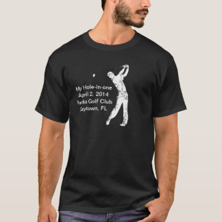 Golf Hole-in-one Commemoration Customizable T-Shirt