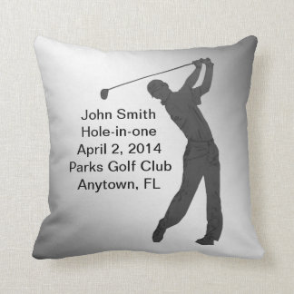 Golf Hole-in-one Commemoration Customizable Throw Pillow
