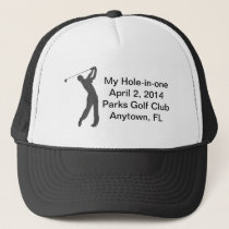 Golf Hole-in-one Commemoration Customizable Trucker Hat