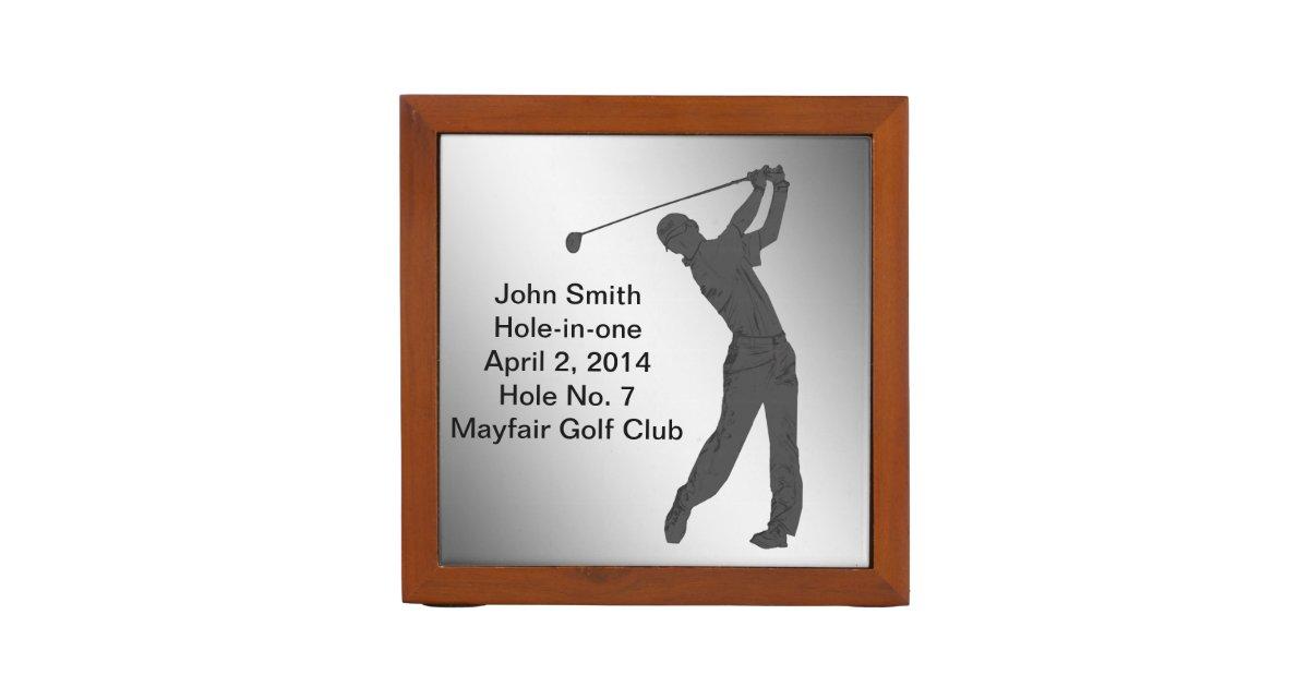 Golf, Hole-in-one Commemoration, Reversible Desk Organizer | Zazzle.com
