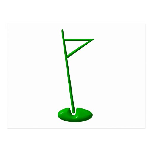 Golf Hole Marker Postcard