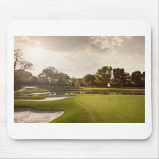 Golf hole mouse pad