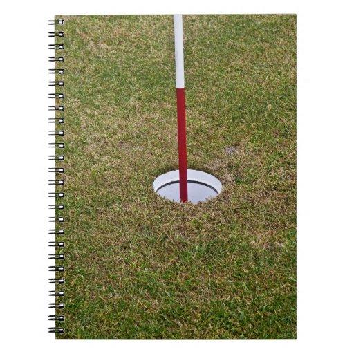 Golf hole note book