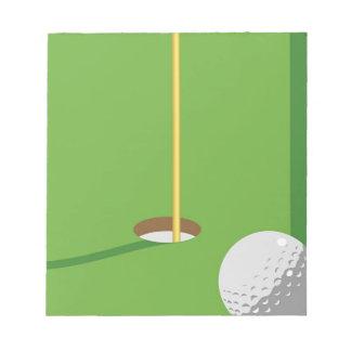 Golf Hole Scratch Pad