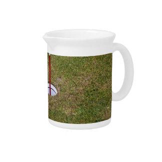Golf hole beverage pitcher