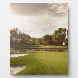 Golf hole plaque