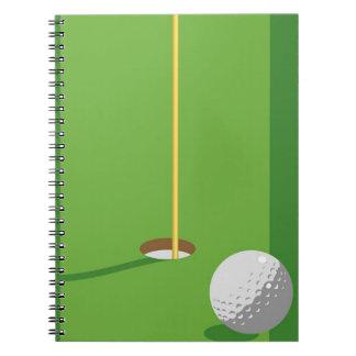 Golf Hole Spiral Notebook