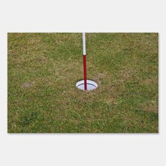Golf hole signs