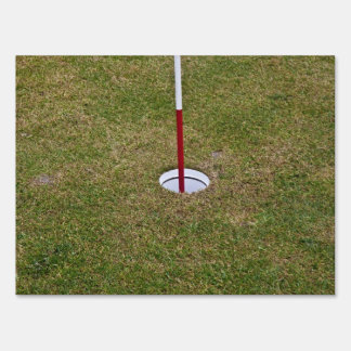 Golf hole yard signs