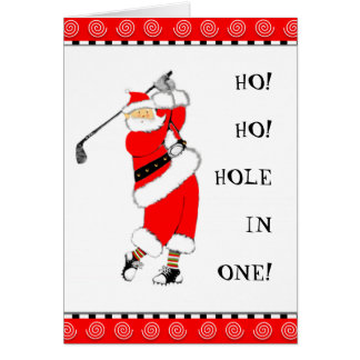 golf holiday cards