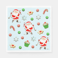 golf holidays paper napkin