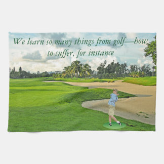 Golf—how to suffer towel