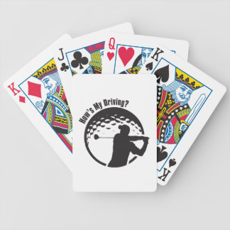 Golf How's My Driving Grandpa Dad Golfer Bicycle Playing Cards