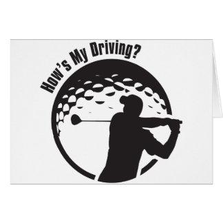 Golf How's My Driving Grandpa Dad Golfer Card
