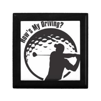 Golf How's My Driving Grandpa Dad Golfer Gift Box
