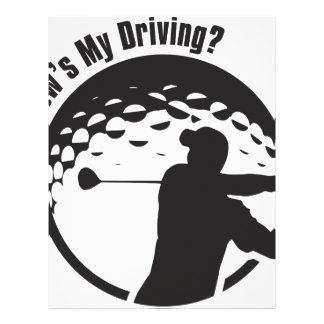 Golf How's My Driving Grandpa Dad Golfer Letterhead