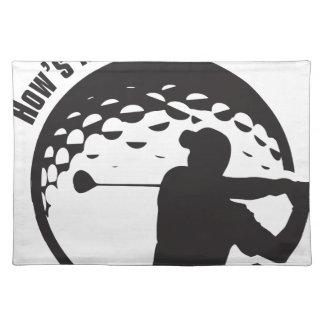 Golf How's My Driving Grandpa Dad Golfer Placemat