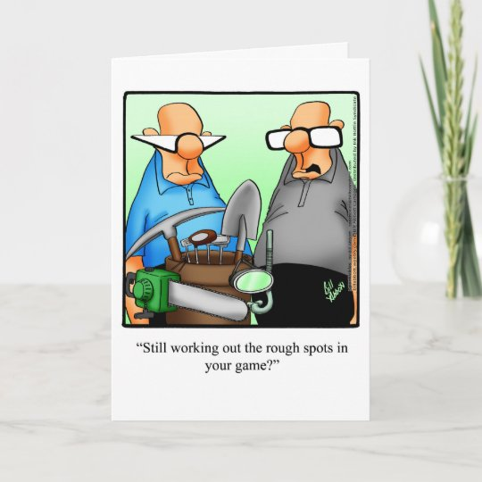 Golf Humor Birthday Greeting Card