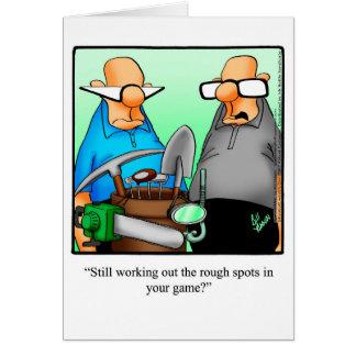 Golf Humor Birthday Greeting Card