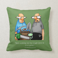 Golf Humor Pillow For Golfers