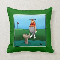 Golf Humor Pillow Gift