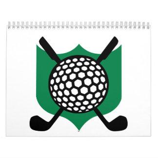 Golf icon wall calendar