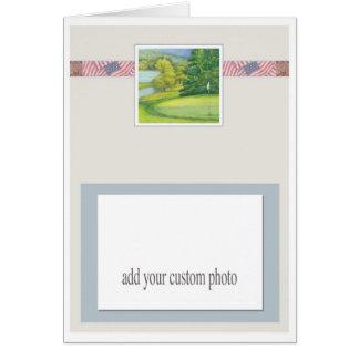 golf illustration patriotic custom photo template card