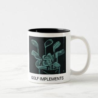 Golf Implements Two-Tone Coffee Mug