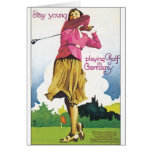 GOLF IN GERMANY VINTAGE TRAVEL POSTER CARD