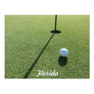 Golf in the florida sunshine. postcard