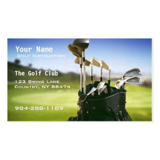 Golf Instruction Business Card Templates