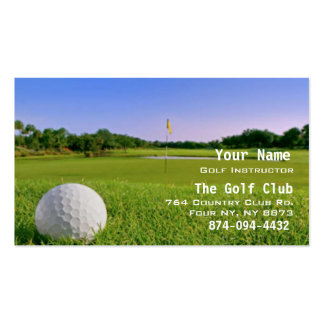 Golf Instruction Business Cards